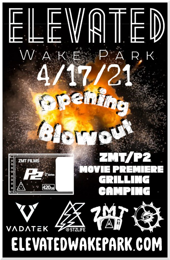 Elevated Wake Park opening blowout event